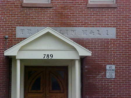 Lintel of Franklin Hook and Ladder #1