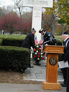 10 of 22: Placing of Wreath at WWI Monument -  Robert M. Stevens, Director Cambridge Veterans' Services
