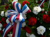 3 of 24: The ribbons on the ceremonial wreaths which are later laid on the Washington, Kosciusko and Pulaski monuments.