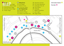 Cambridge River Festival site map