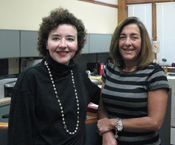 City Council Office Staff Mary Horgan and Sandra Albano.